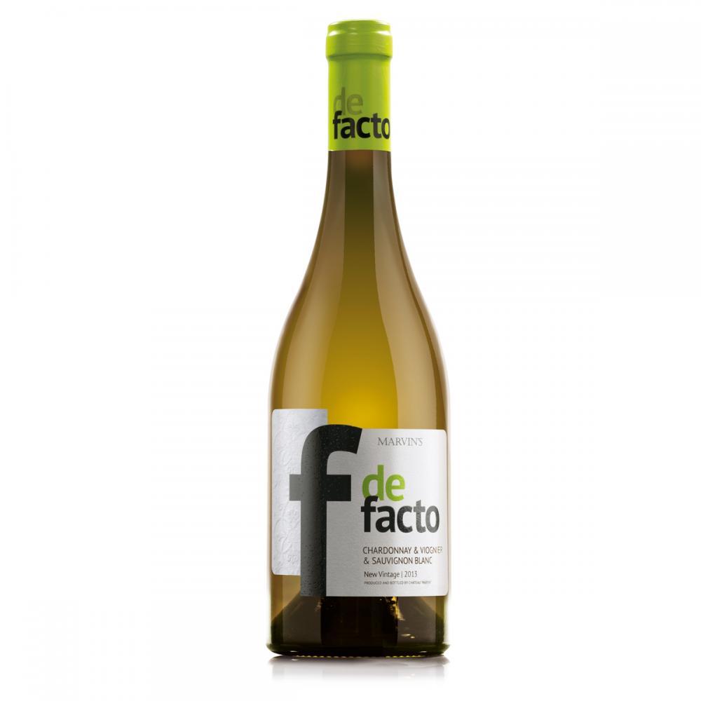 Бяло вино Де Факто Шардоне & Вионие & Совиньон Блан / 0,750 л.