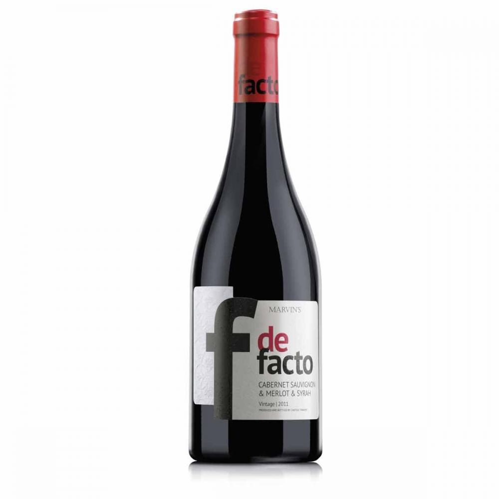 Червено вино Де Факто Каберне & Мерло & Сира / 0,750 л.